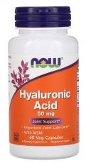 Now Foods Hyaluronic Acid 50 mg + MSM 60 kapsúl