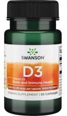 Swanson Vitamín D3 1000 IU