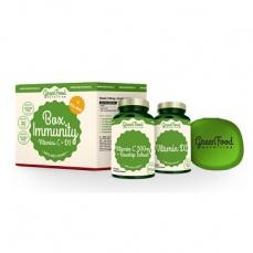 GreenFood Box Immunity Vitamin C a D3 + pillbox 60 + 60 kapsúl