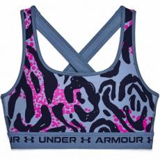 Dámska športová podprsenka Under Armour Crossback Mid Print - 1361042-470