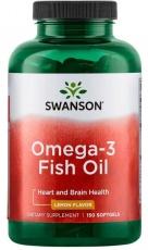 Swanson Omega 3 Fish Oil 150 kapsúl - citron