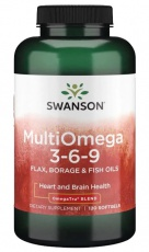 Swanson Muli Omega 3-6-9 120 kapsúl