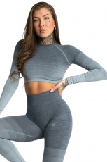 Gym Glamour Crop Top Sea Ombre