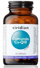 Viridian Curcumin Co-Q10 (Kurkumin a Koenzym Q10) 60 kapsúl