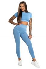 Gym Glamour Legíny Bezšvíkové Second Skin Blue