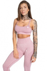 Gym Glamour Podprsenka Seamless Pink Melange