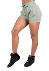 Gorilla Wear Dámske šortky Pixley Sweatshorts Light Green