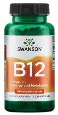 Swanson Vitamin B12 500 mcg 250 kapsúl
