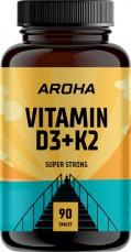 Aroha Vitamin D3+K2 90 tabliet