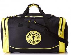 Gold 's Gym Holdall Bag Športová taška Čierno/žltá