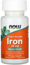 Now Foods Iron Ferrochel (železo chelát) 36 mg 90 kapsúl