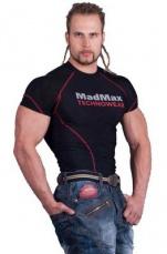 Mad Max MSW901 Kompresní tričko s krátkym rukávom čierno/červené