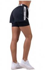 Nebbia Fast&Furious Double Layer šortky 527 black