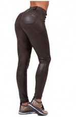 Nebbia Leather Look Bubble Butt 538