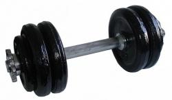 Acra Jednoruční nakládacia činka chrom 15 kg