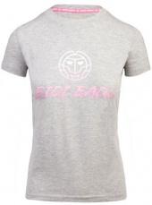 BIDI BADU Dámske tričko Lamia Basic Logo Tee Grey
