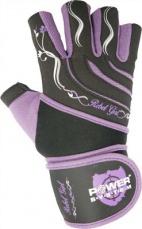 Power System Fitness rukavice REBELL GIRL fialová DOPREDAJ