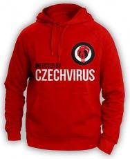 Czech Virus Mikina Unisex červená