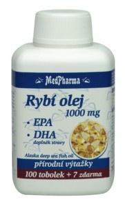 MedPharma Rybí olej 1000mg + EPA + DHA 107 kapsúl