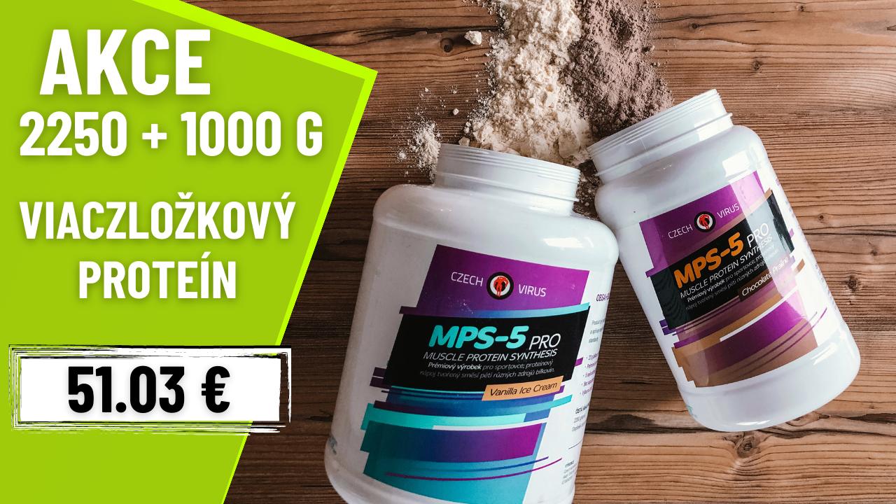 Czech Virus Viaczložkový protein MPS-5 PRO 2250g + 1000g AKCE